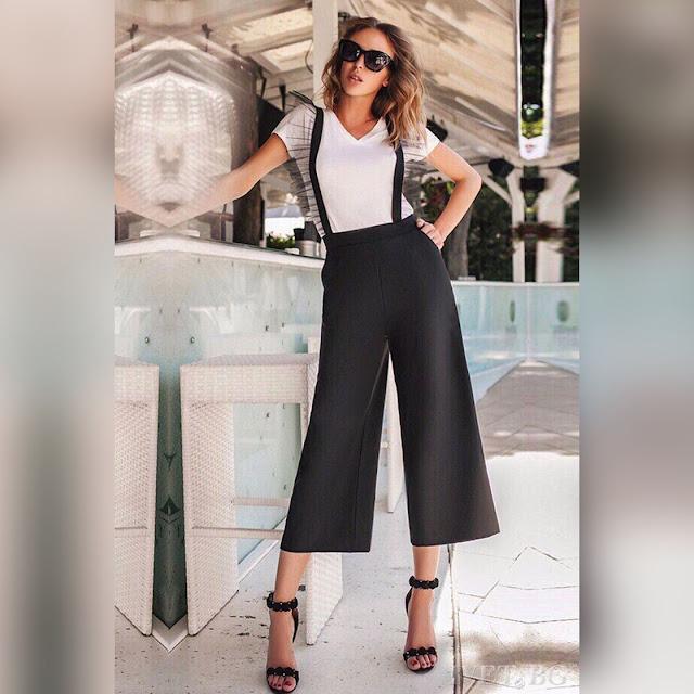 Ψηλόμεση  μαύρη παντελόνα MINESOTA