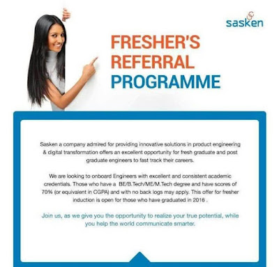 Sasken Career Recruitment 2017