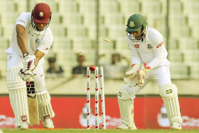 The West Indies cricket team started out for batting in the first innings of the second Test against Bangladesh and five batsmen became clean bowled. Such an incident occurred in a test match in the history of cricket 139 years ago when the top five batsmen of any team have become clean-bodied. Such an incident happened in the history of cricket for the third time when five batsmen were bowled out of a team's start. Earlier this happened in the year 1879 and 1890 during the Ashes.