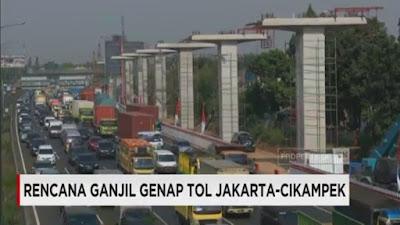 Pengaturan Ganjil Genap di Akses Tol Bekasi Barat dan Timur Berlaku 12 Maret