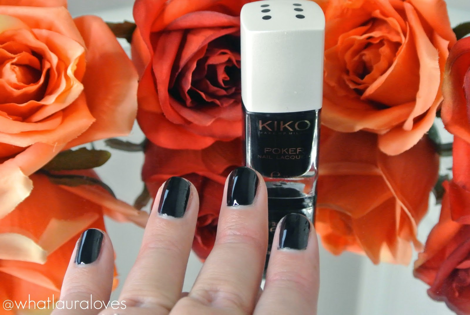 Kiko Poker Nail Lacquer in 6 Slick Bluenoir Swatch