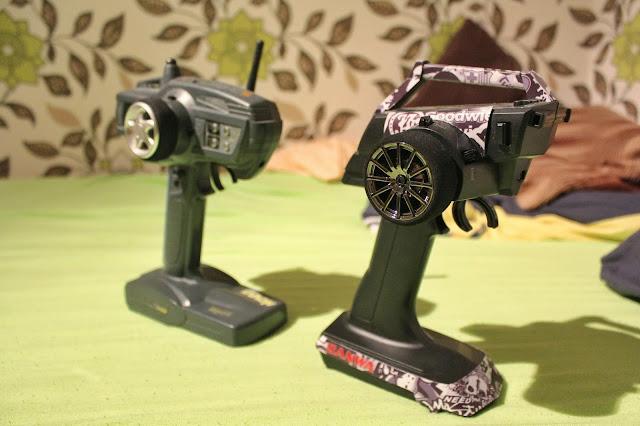 Old and new - Hi-tec Aggressor and Sanwa MT-S