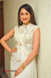 Actress Pragya Jaiswal Stills in Beautiful White Dress at turodu Audio Launch  0029.JPG