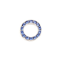 Swarovski Crystal Channel Set Circle (Sapphire - SEPTEMBER)