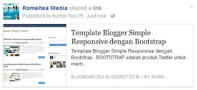 Share Posting Blog ke Facebook