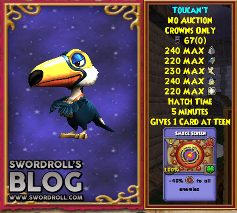Wizard101 Aztecan Builder's Bundle Toucan't Pet