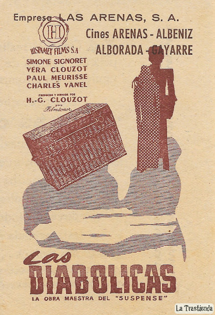 Las Diabólicas - Proggrama de Mano - Simone Signoret - Vera Clouzot
