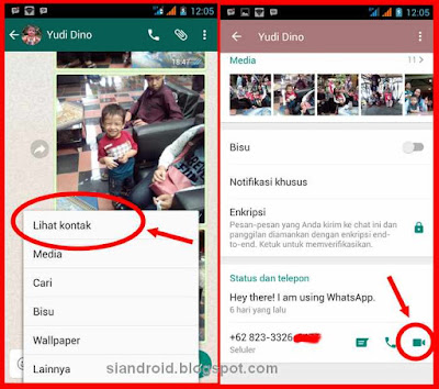 cara call video online di whatsapp