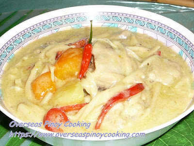 Chicken Curry with Bamboo Shoots Recipe