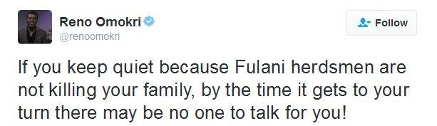 Reno Omokiri's Tweet About Fulani Herdsmen Got Me Wondering