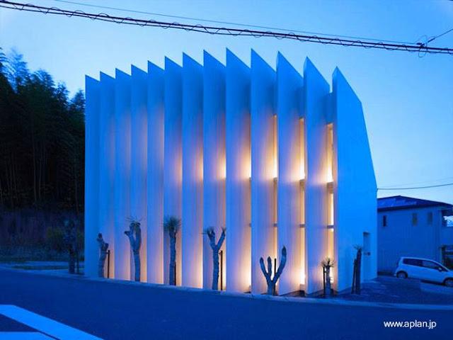 Casa residencial de arquitectura japonesa moderna