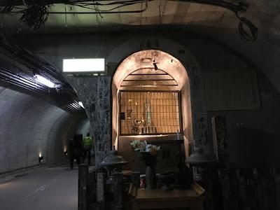 袋田の滝トンネル内の観音像