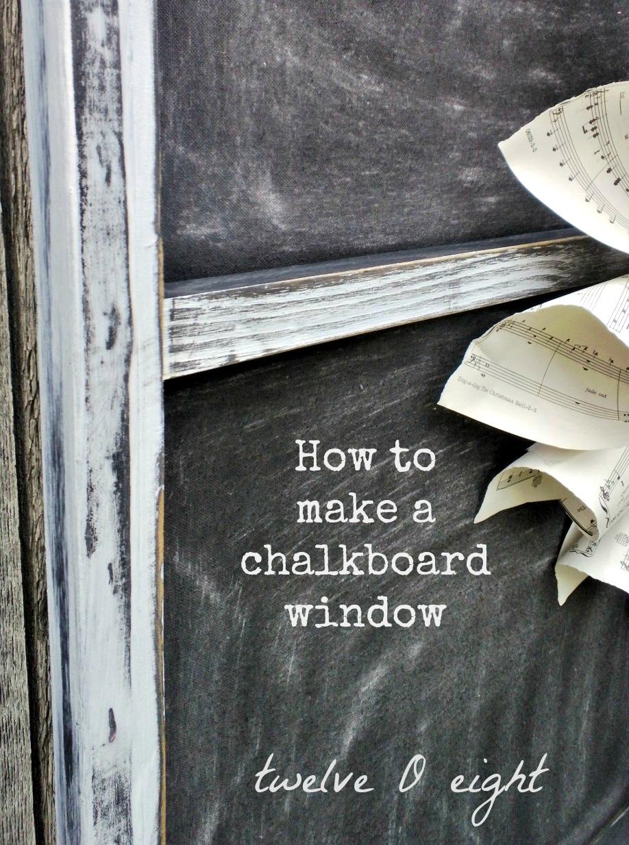 DIY Chalkboard Window