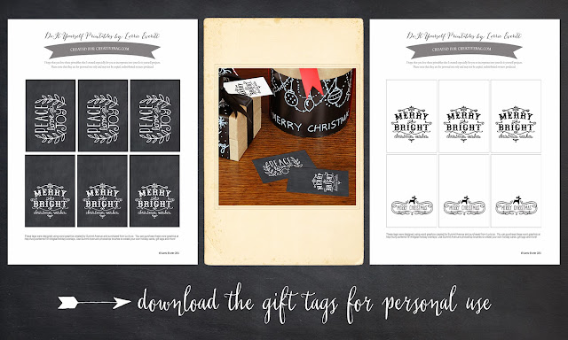 free download for holiday gift tags by Lorrie Everitt for creativebag.com
