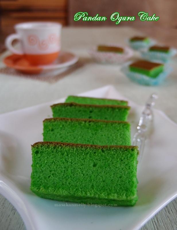 Masakan Melly Pandan Ogura Cake