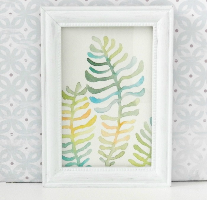 Watercolor Fern Painting by Elise Engh: Grow Creative