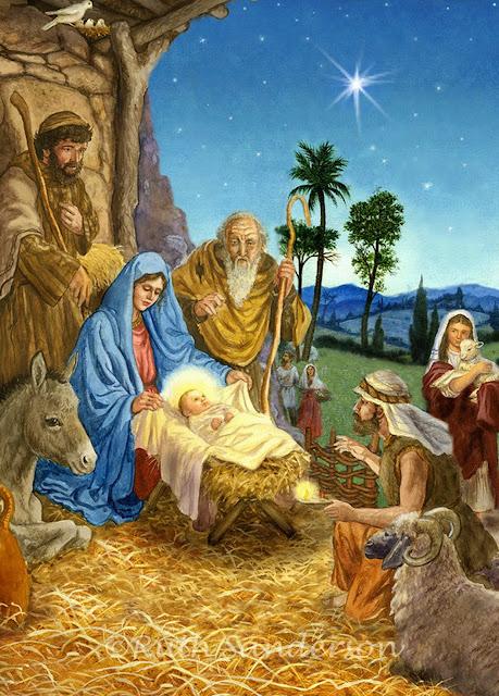 Resultado de imagen para cuadros de pesebres navideños