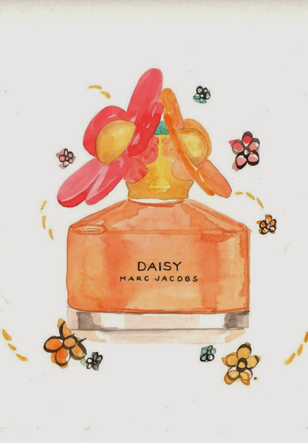 7ce7f77599c7e Dolce Gabbana The One Desire Fragrance - Watercolor perfume bottle  illustration via Milk Foam