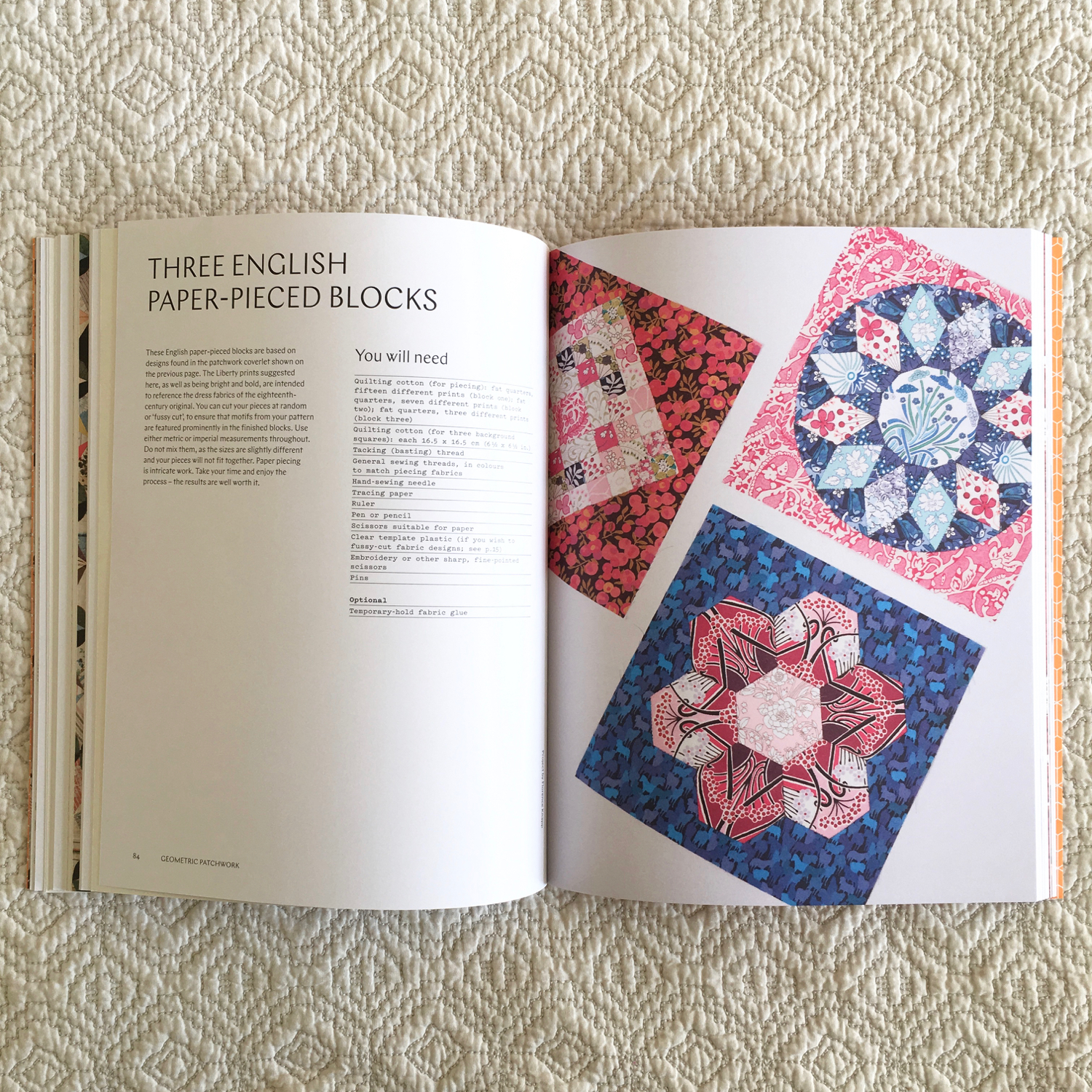 Flossie teacakes patchwork quilting a makers guide last year an email landed in my inbox asking if id like to contribute an english paper pieced project to a book that the victoria albert museum were maxwellsz