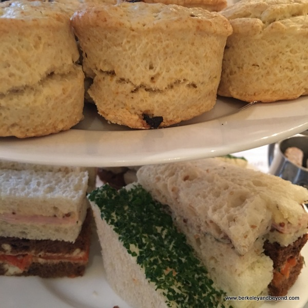 afternoon tea selections at Gracie's restaurant in Hotel deLuxe in Portland, Oregon
