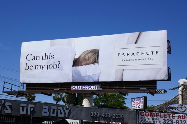 Can this be my job Parachute Home billboard