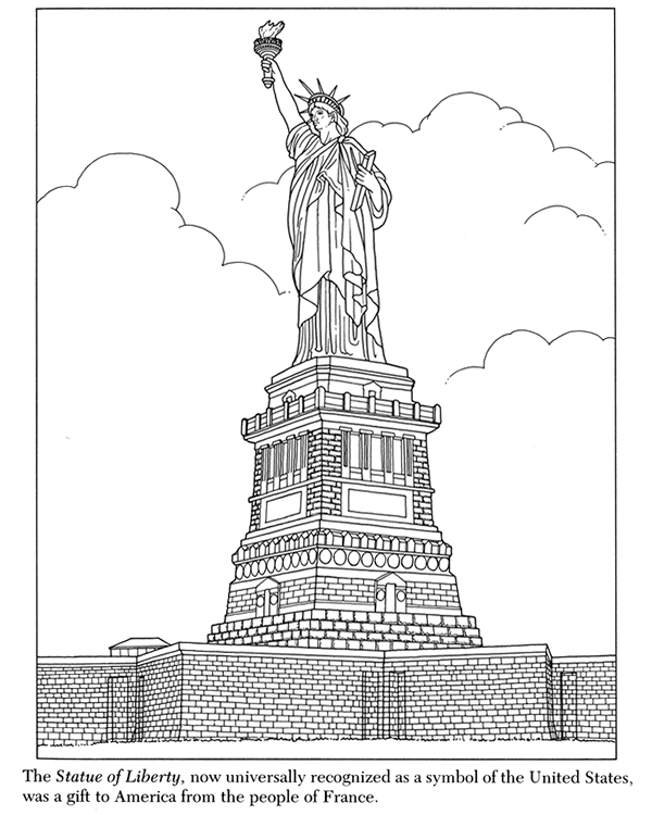 Coloring Pages For Kids: Statue Of Liberty Coloring Pages