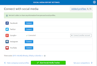 SEMrush Social Media Profile Connected Status
