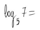 Cálculo de un logaritmo por la fórmula de cambio de base 1