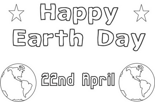 earth day coloring pages 2013 - photo#1