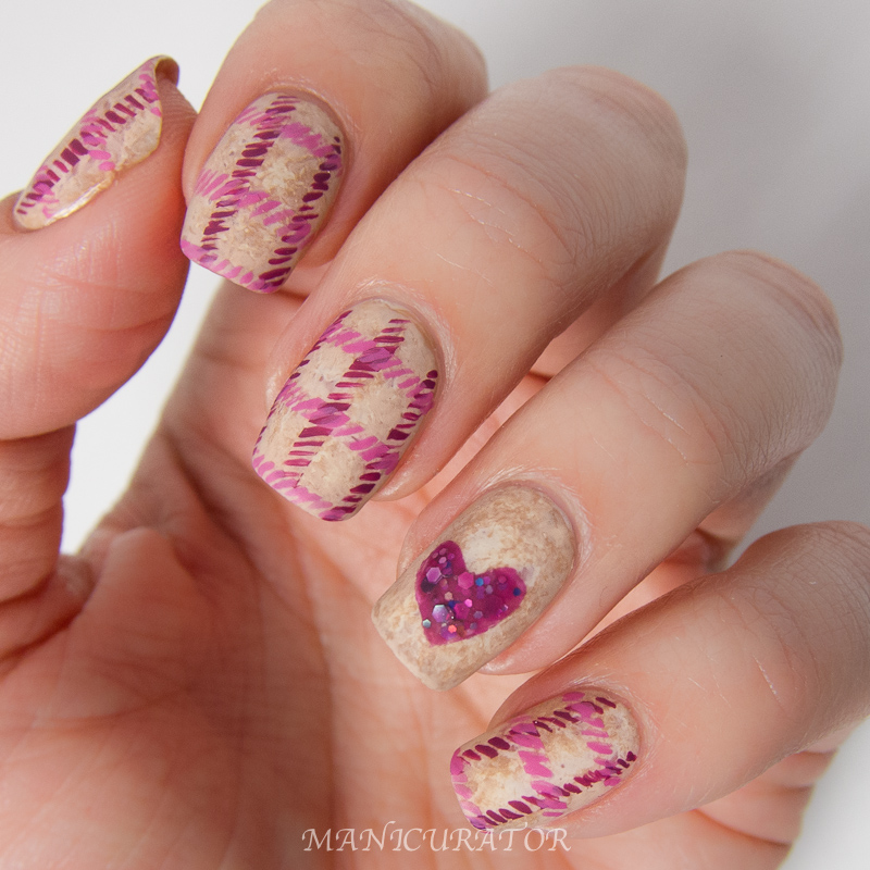 Heart Nail Art: The Lacquer Cabinet By Nailtini: February Valentines Tweed