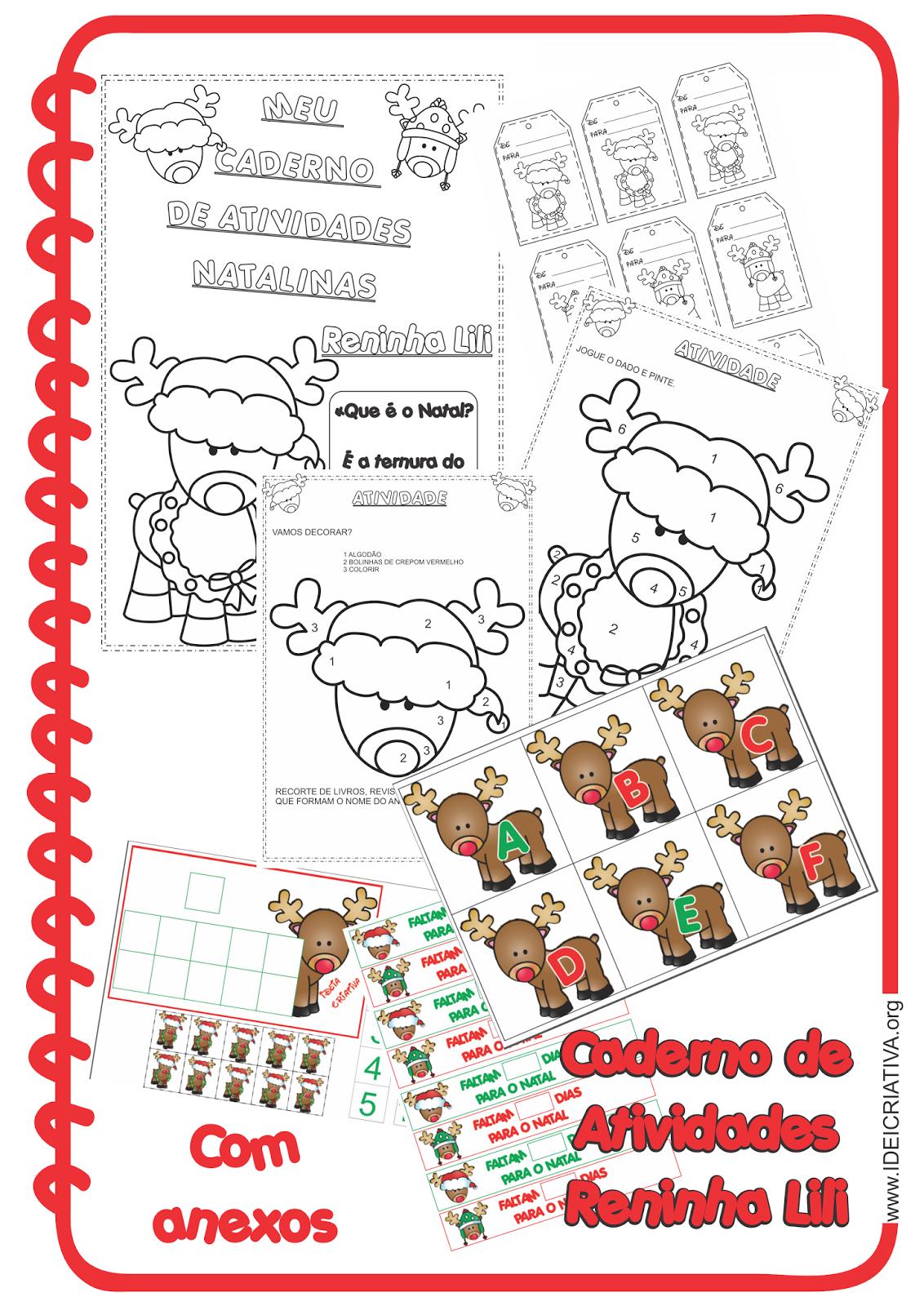 Cadernos de Atividades Natalinas Reninha Lili