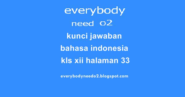 Kunci Jawaban Bahasa Indonesia Kls Xii Halaman 33