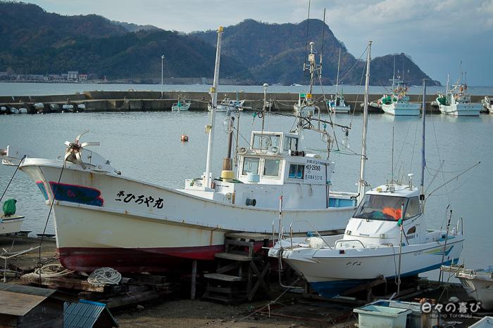 Vue sur le port de pêche de Kasumi