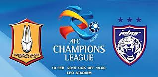 result JDT Vs Bangkok Glass FC 10 Feb 2015