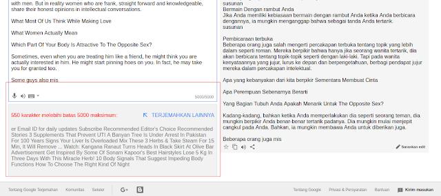 Google Translate Kini Hanya Terjemahkan Maksimal 5.000 Karakter