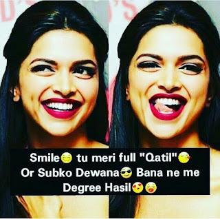 Attitude Shayari image For Girl