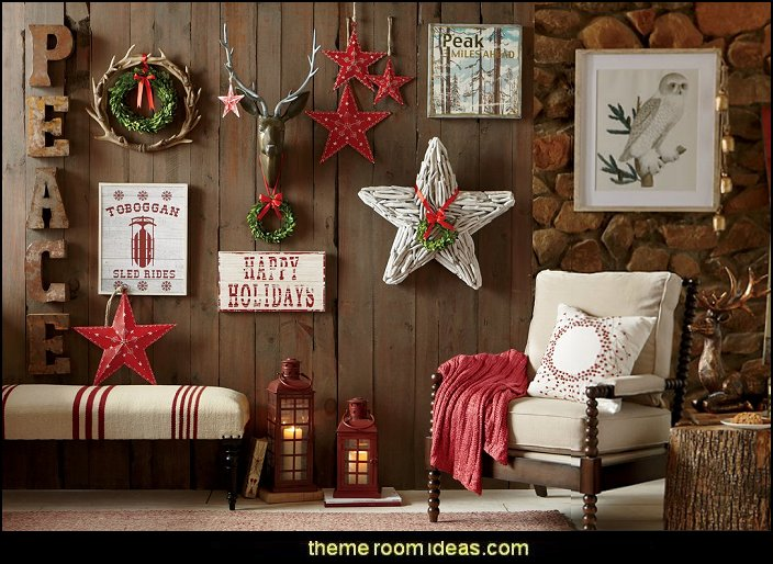 Rustic Holiday Decorating Ideas Part - 36: Rustic Christmas Decorating Ideas - Rustic Christmas Decorations - Vintage  - Rustic - Country Style Christmas