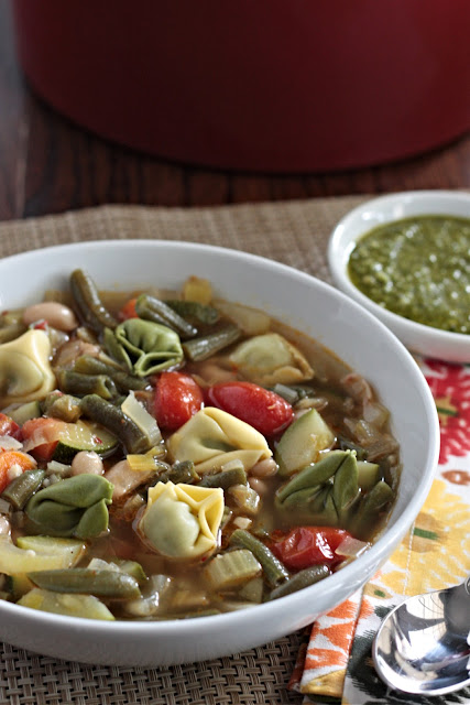 vegetable soup with basil