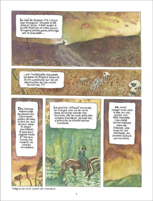 """page de """"Cavalerie rouge"""" de Pecau, Babel, Milovic chez Delcourt"""