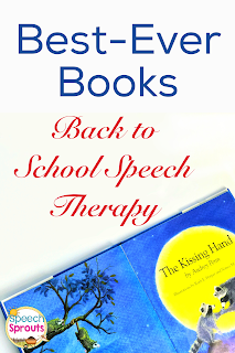 Welcome your speech therapy students back to school with The Kissing Hand and a sweet treat too!  Download a FREE treat baggie topper too. www.speechsproutstherapy.com