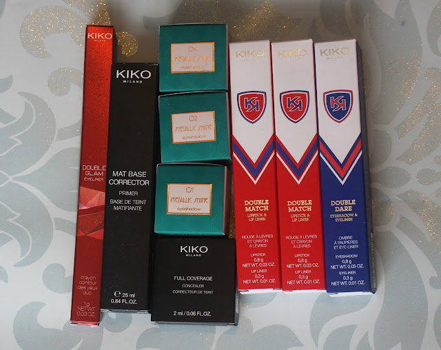 Photo of Kiko cosmetics purchased in my haul