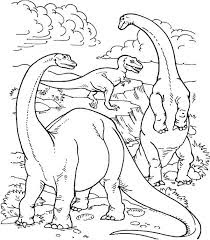 Cute Big Dinosaurs Coloring Pages For Kids
