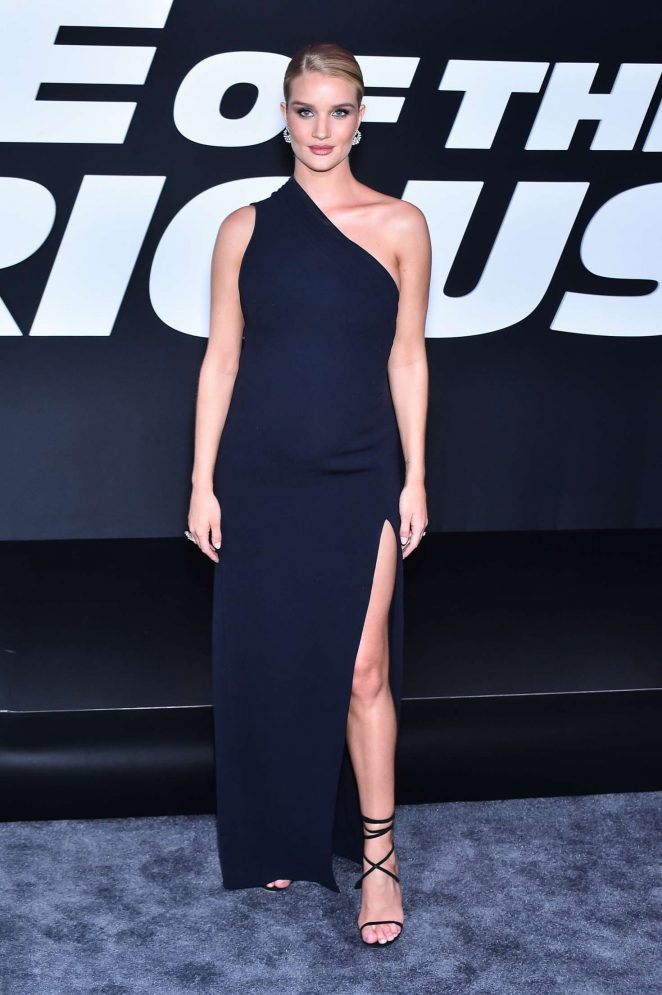 Rosie Huntington Whiteley – 'The Fate of the Furious' Premiere in New York