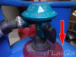 posisi regulator terpasang dan terkunci
