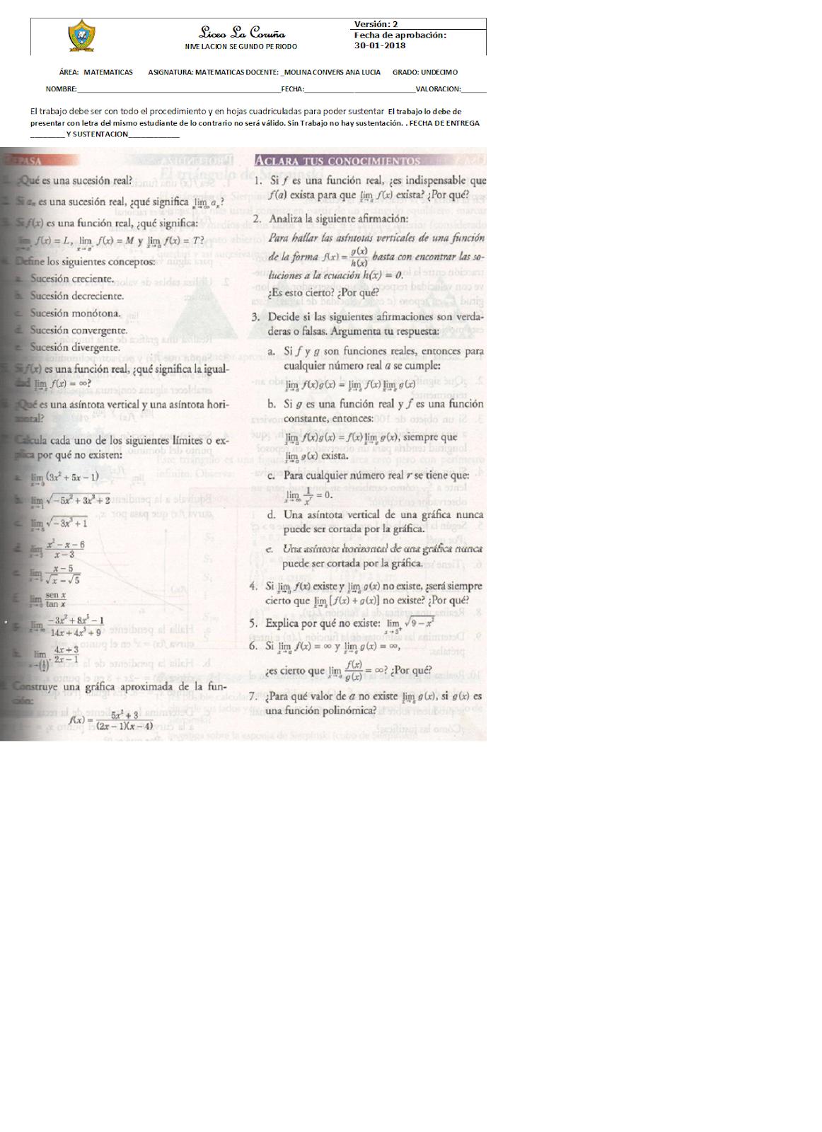 Lujoso Hojas De Trabajo De Matemáticas Del Grado 11 Ideas - hojas ...