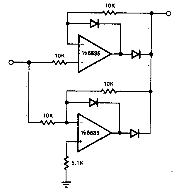 Simple Precision full wave Rectifier Circuit Diagram