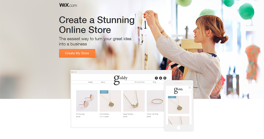 Wix ecommerce website builder