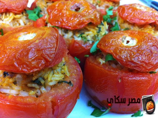 الطماطم المحشية بأوراق الكرفس والبهارات وطريقة التحضير