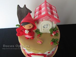 sugar paste cake Little Red Riding Hood