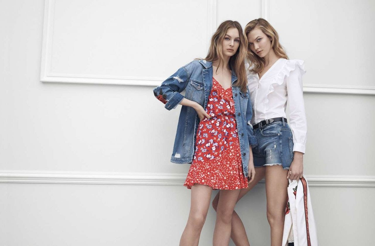 Karlie Kloss appeared in the promotion of major chain express Express